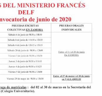 Exámenes del Ministerio Francés 2020