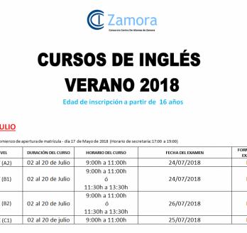 Cursos de Verano 2018 JULIO